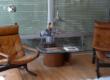 Interior furniture receiving direct sunlight through a window